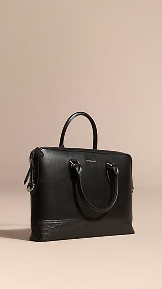 The Barrow Bag in London Leather and Alligator