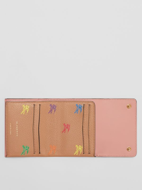 Small EKD Leather Wallet in Light Camel - Women | Burberry Canada - cell image 2