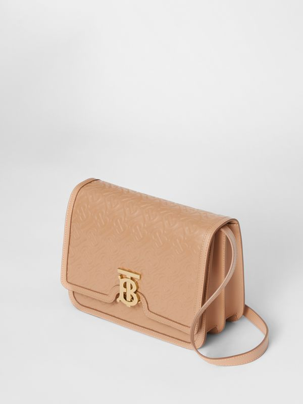 Medium Monogram Leather TB Bag in Light Camel - Women | Burberry - cell image 2