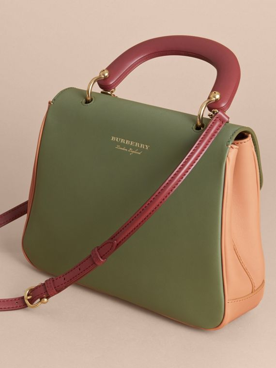 The Medium DK88 Top Handle Bag Pale Clementine/moss Green - cell image 3