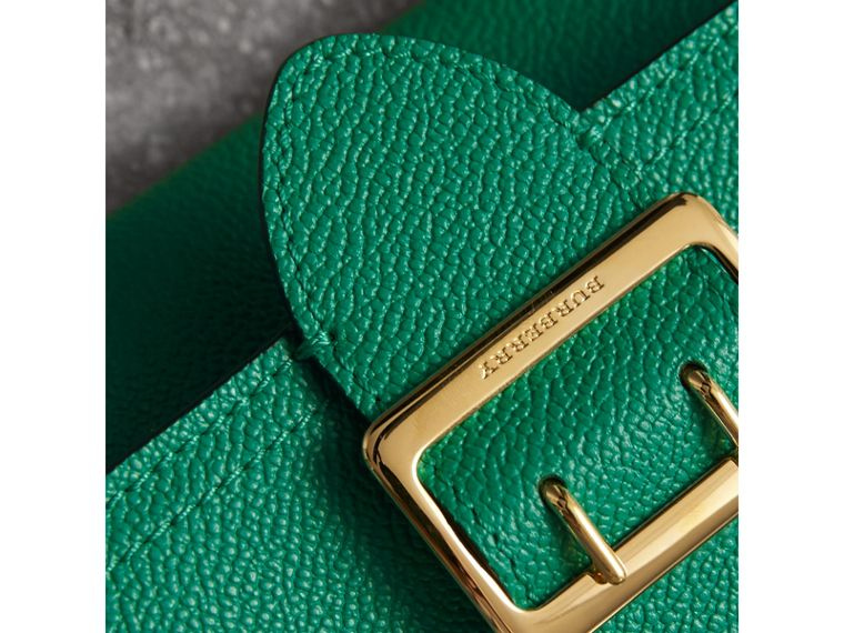 Textured Leather Continental Wallet in Bright Pigment Green - Women | Burberry - cell image 1