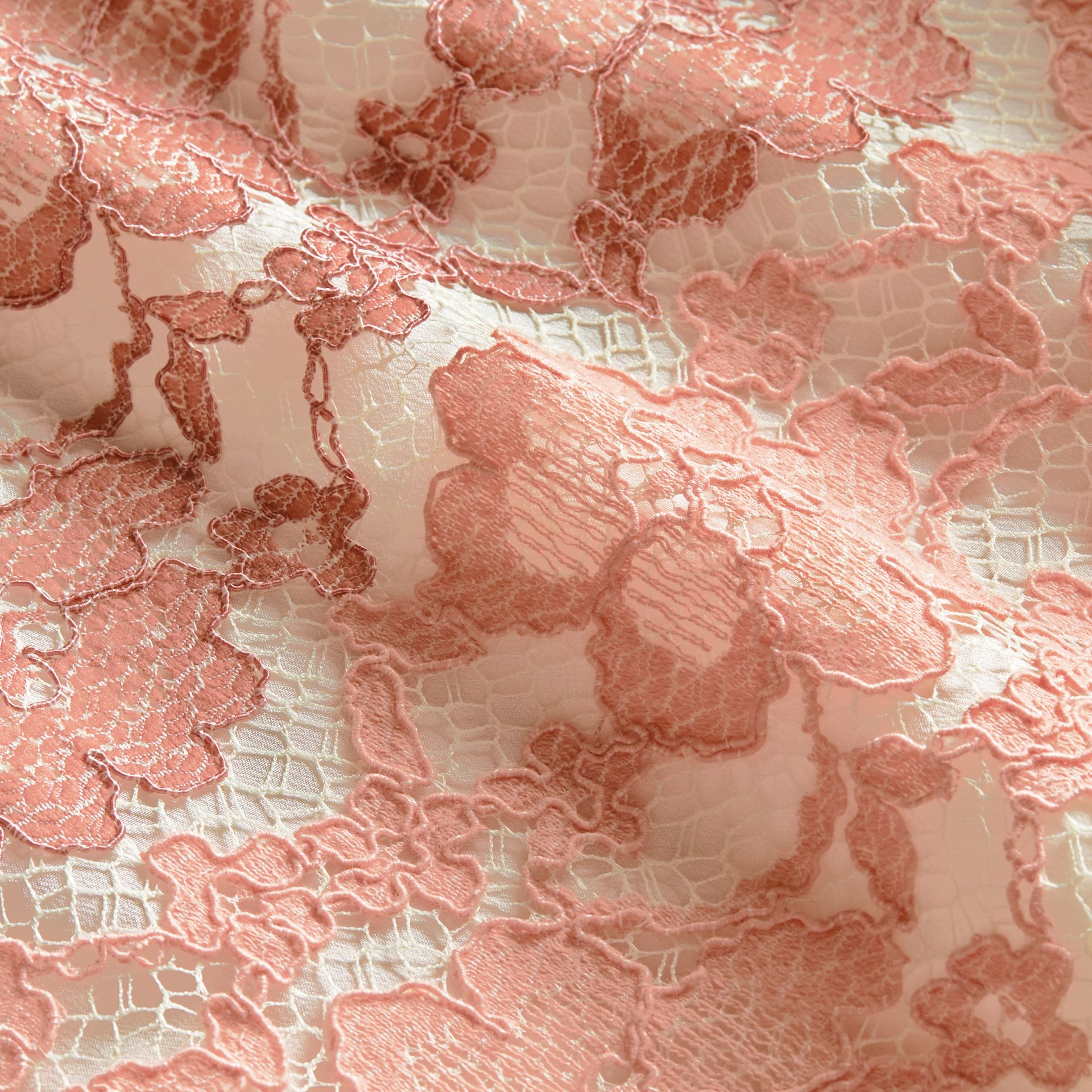 Floral Lace Dress with Flutter Sleeves Dusty Pink - gallery image 2
