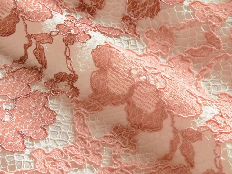 Floral Lace Dress with Flutter Sleeves Dusty Pink - cell image 1