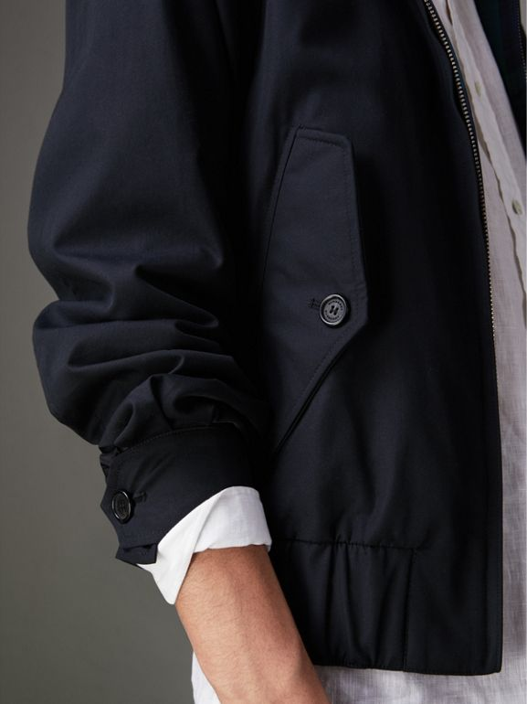 Cotton Gabardine Harrington Jacket in Navy - Men | Burberry - cell image 1
