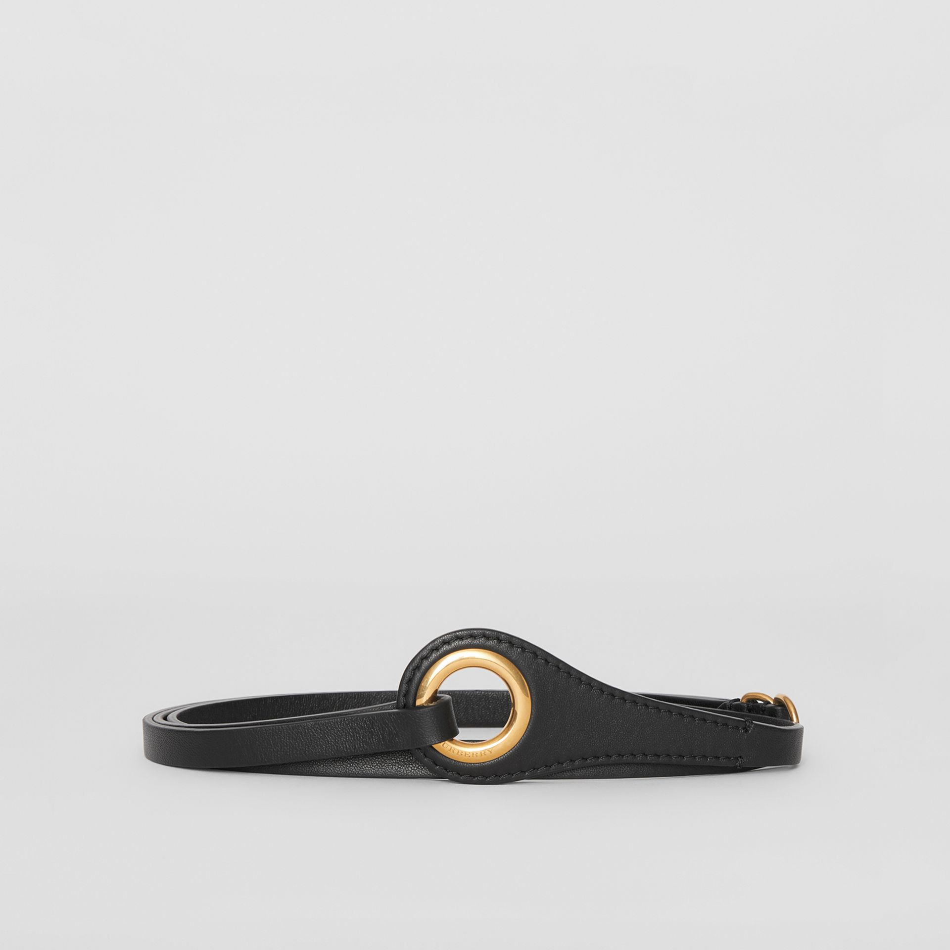 Grommet Detail Lambskin Belt in Black - Women | Burberry - gallery image 3