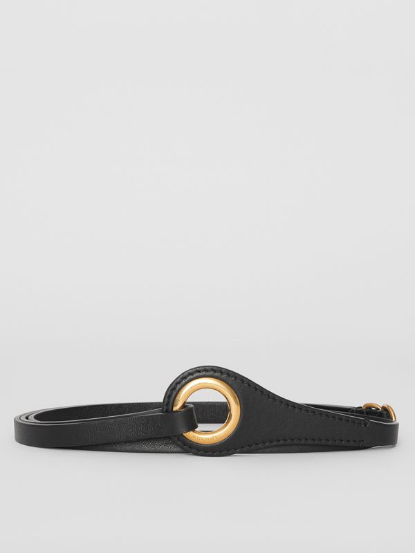 Grommet Detail Lambskin Belt in Black - Women | Burberry - cell image 3