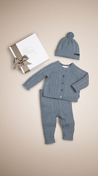 Wool Cashmere Three-Piece Baby Gift Set