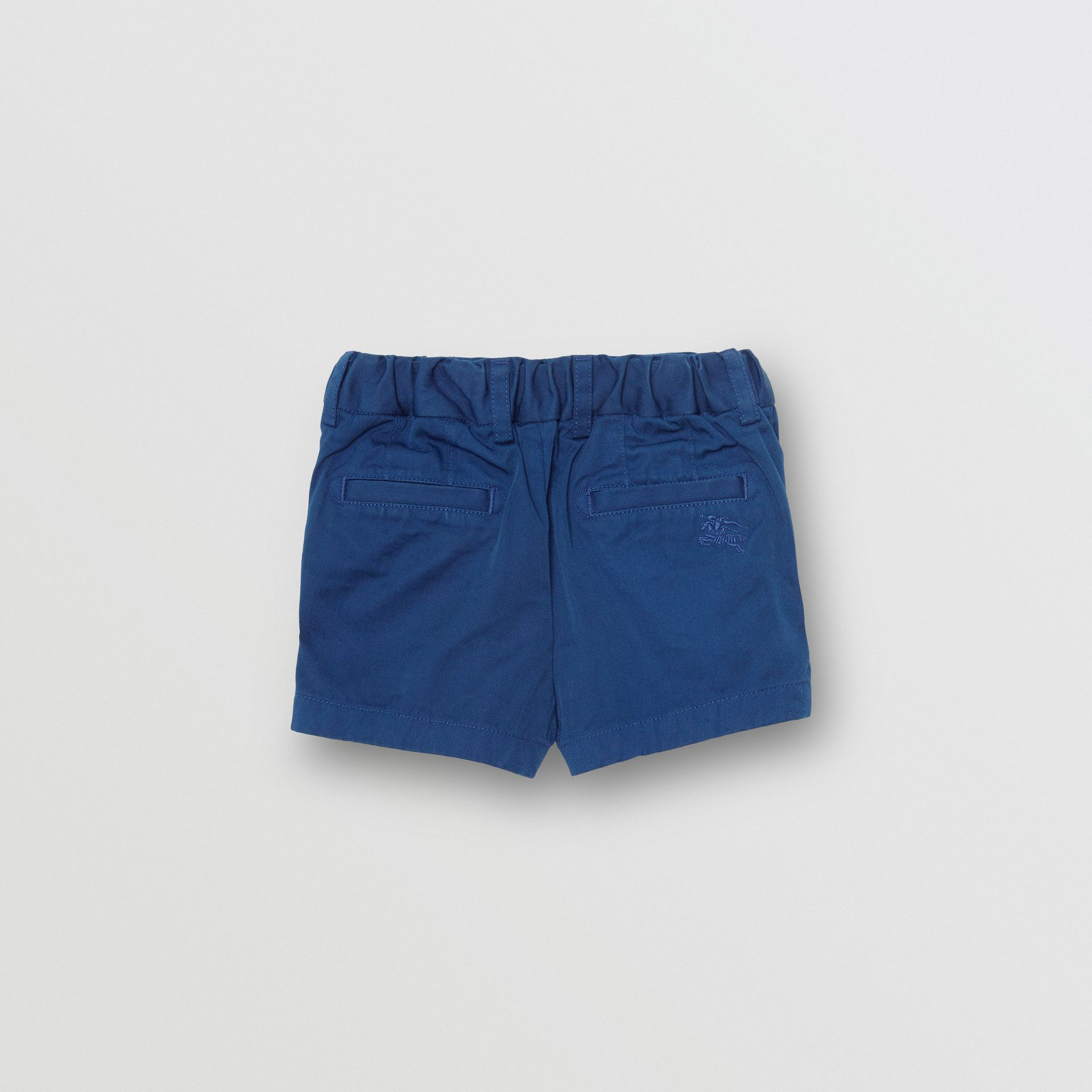 Cotton Chino Shorts in Bright Navy - Children | Burberry - gallery image 3