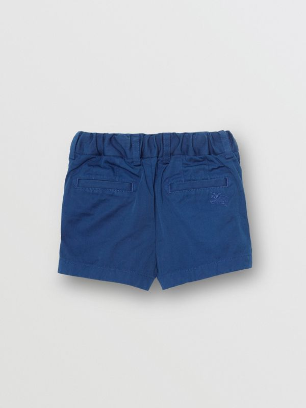 Cotton Chino Shorts in Bright Navy - Children | Burberry United States - cell image 3