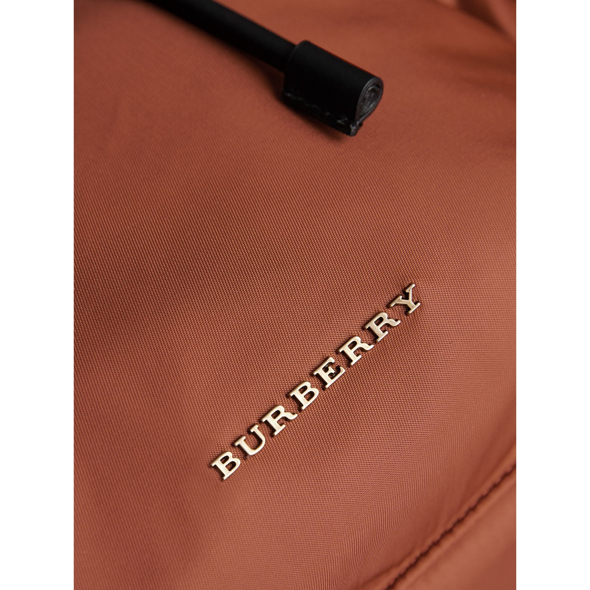 The Large Rucksack in Technical Nylon and Leather in Redwood - Men | Burberry United Kingdom - gallery image 2