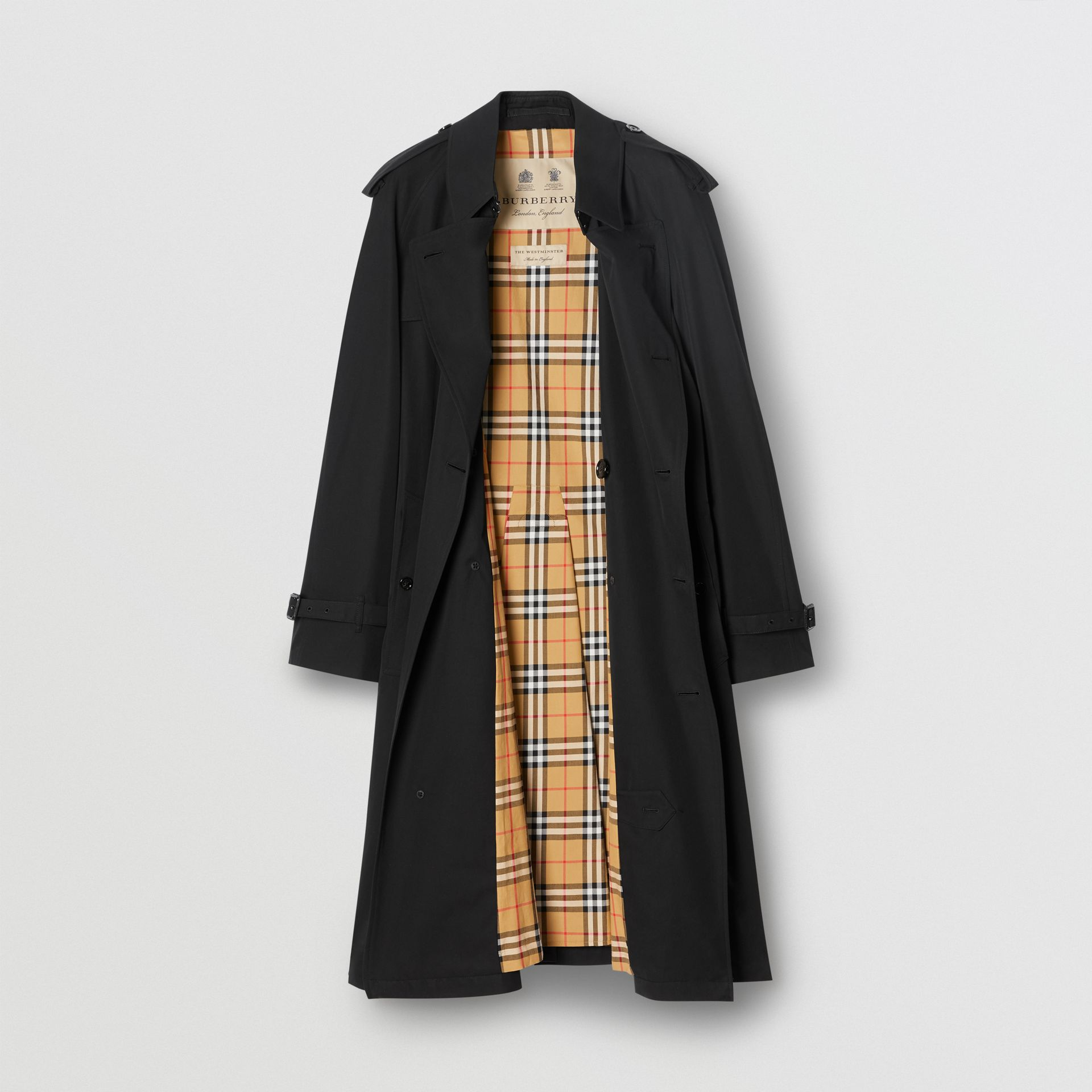 The Westminster Heritage Trench Coat in Black - Men | Burberry United States - gallery image 8
