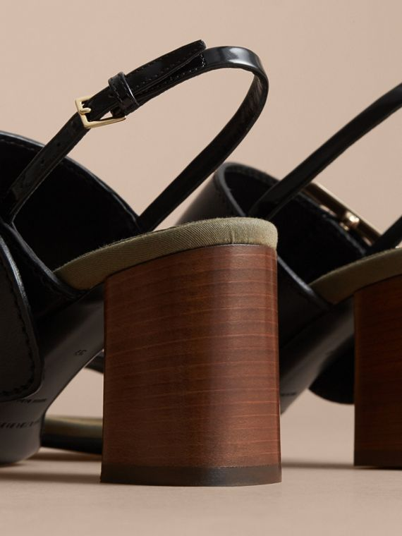 Buckle Detail Leather Sandals - Women | Burberry - cell image 3