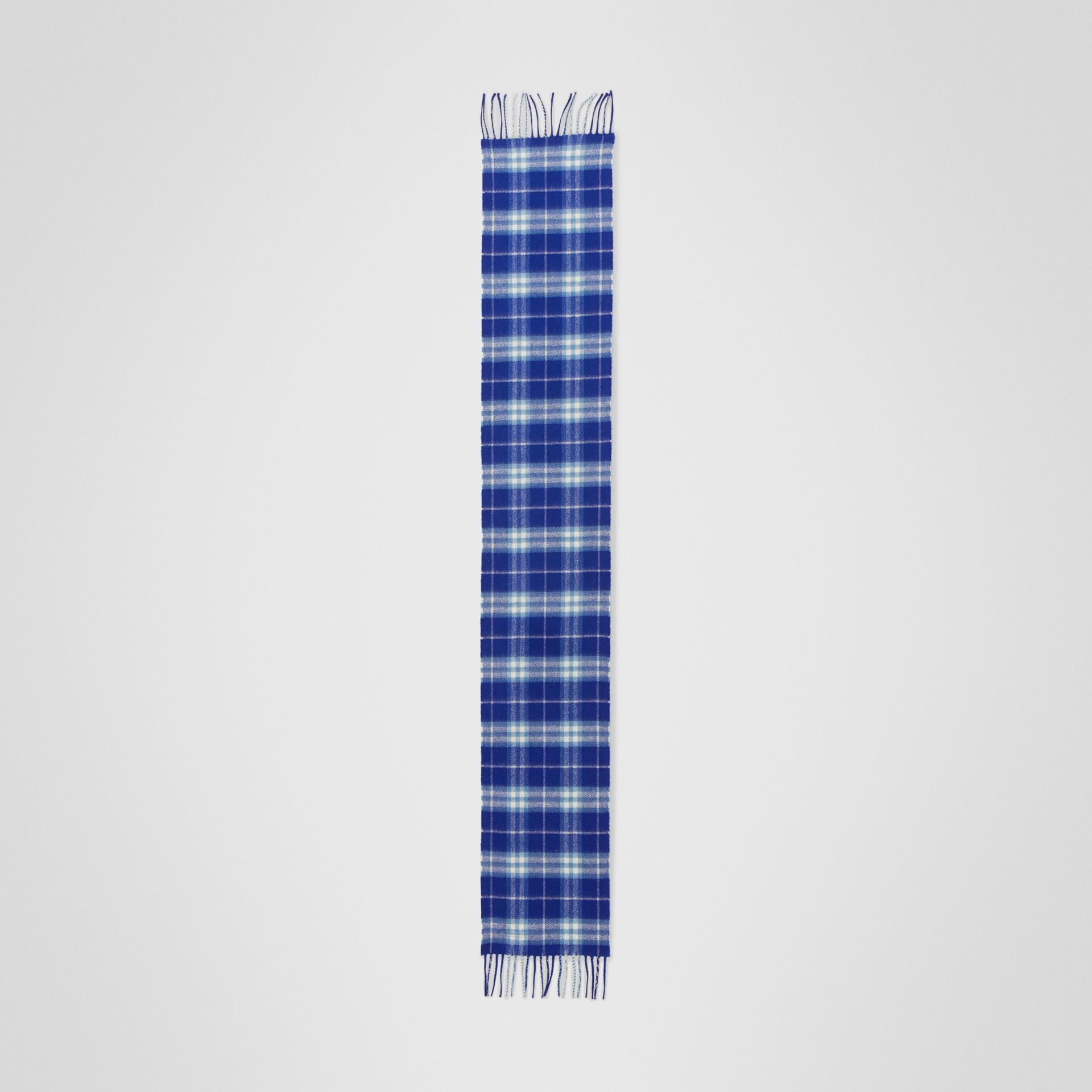The Mini Classic Vintage Check Cashmere Scarf in Bright Lapis - Children | Burberry United States - gallery image 2