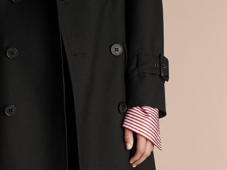 Nero Trench coat in twill di lana dal taglio comodo - cell image 4