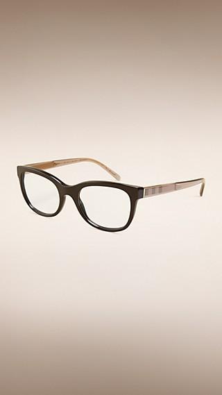 Monture ovale pour lunettes de vue avec détails check