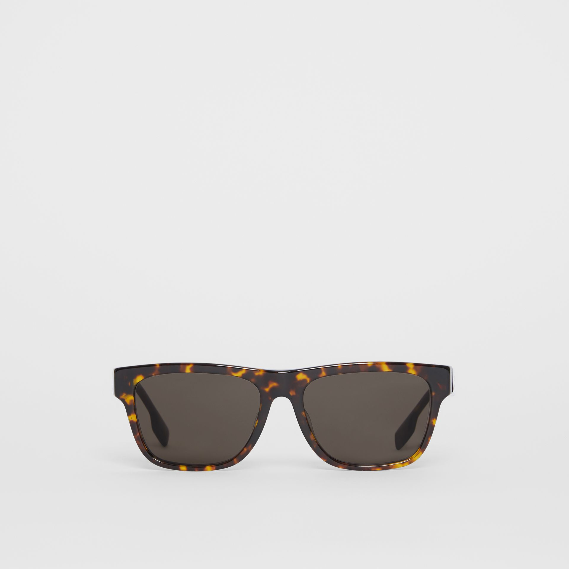 Square Frame Sunglasses in Tortoiseshell - Men | Burberry - gallery image 0