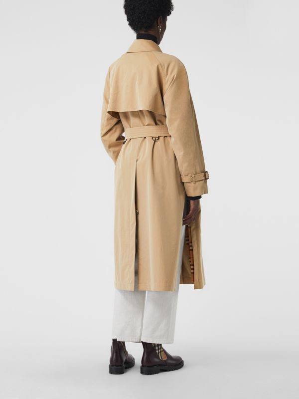 Side-slit Tropical Gabardine Trench Coat in Honey - Women | Burberry Canada - cell image 2