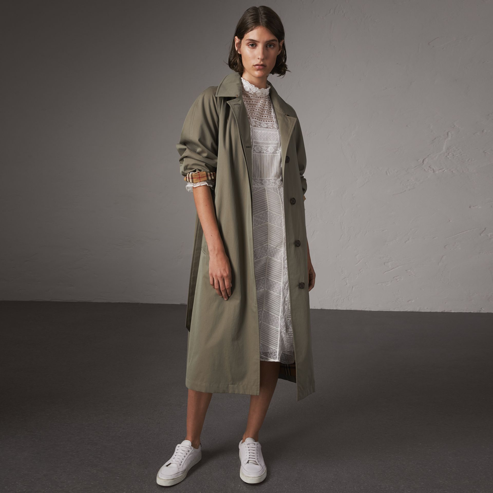 The Brighton – Extra-long Car Coat in Chalk Green - Women | Burberry - gallery image 0