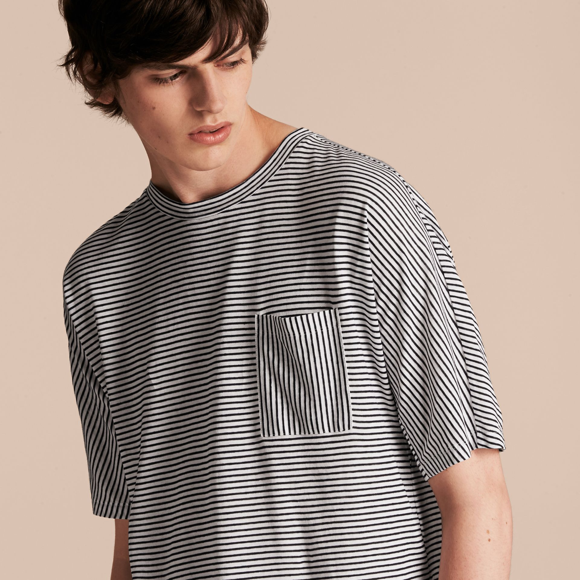 Striped Cotton Linen T-shirt - gallery image 5