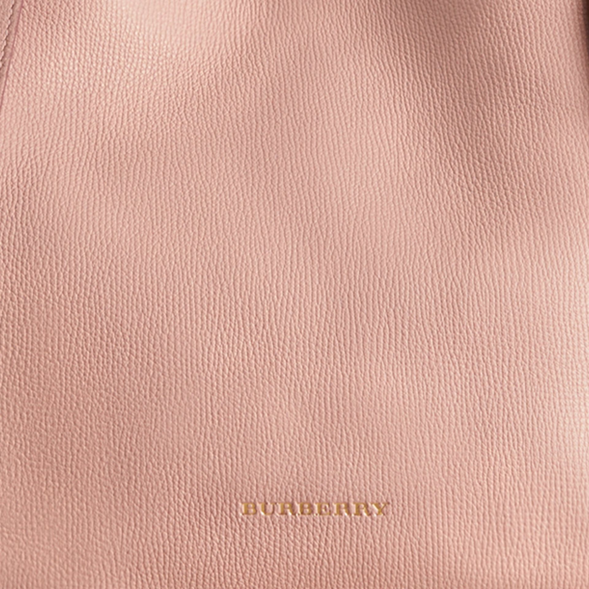 The Small Canter in Leather and House Check in Pale Orchid - Women | Burberry - gallery image 2