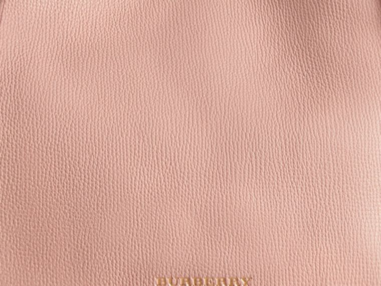 The Small Canter in Leather and House Check in Pale Orchid - Women | Burberry - cell image 1