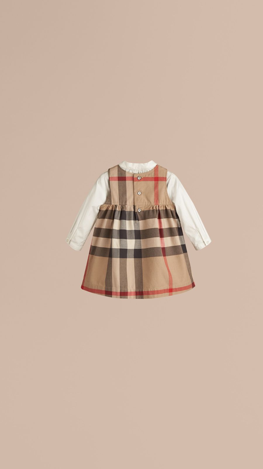 New classic Check Cotton Dress - Image 3