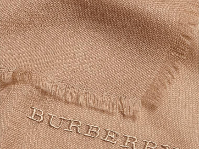 The Lightweight Cashmere Scarf in Camel | Burberry Canada - cell image 4