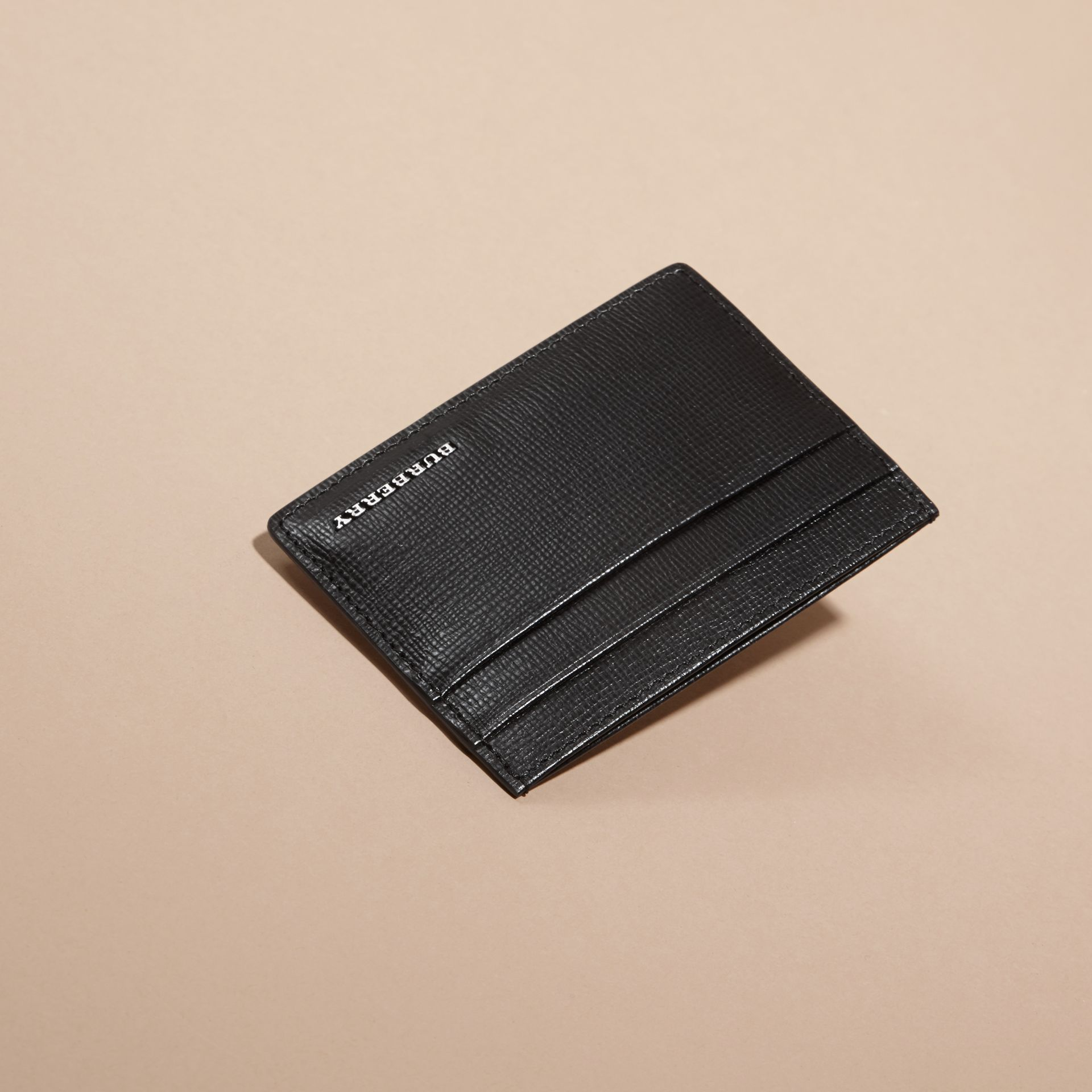 Black London Leather Card Case Black - gallery image 3