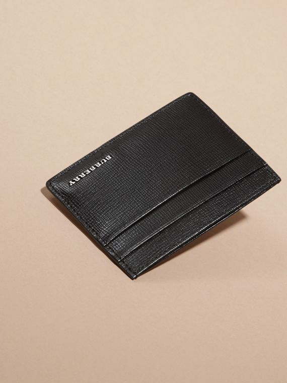 London Leather Card Case in Black | Burberry - cell image 2