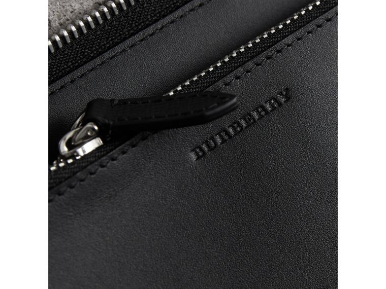 Cartera en London Checks con cremallera perimetral (Gris Marengo / Negro) - Hombre | Burberry - cell image 1