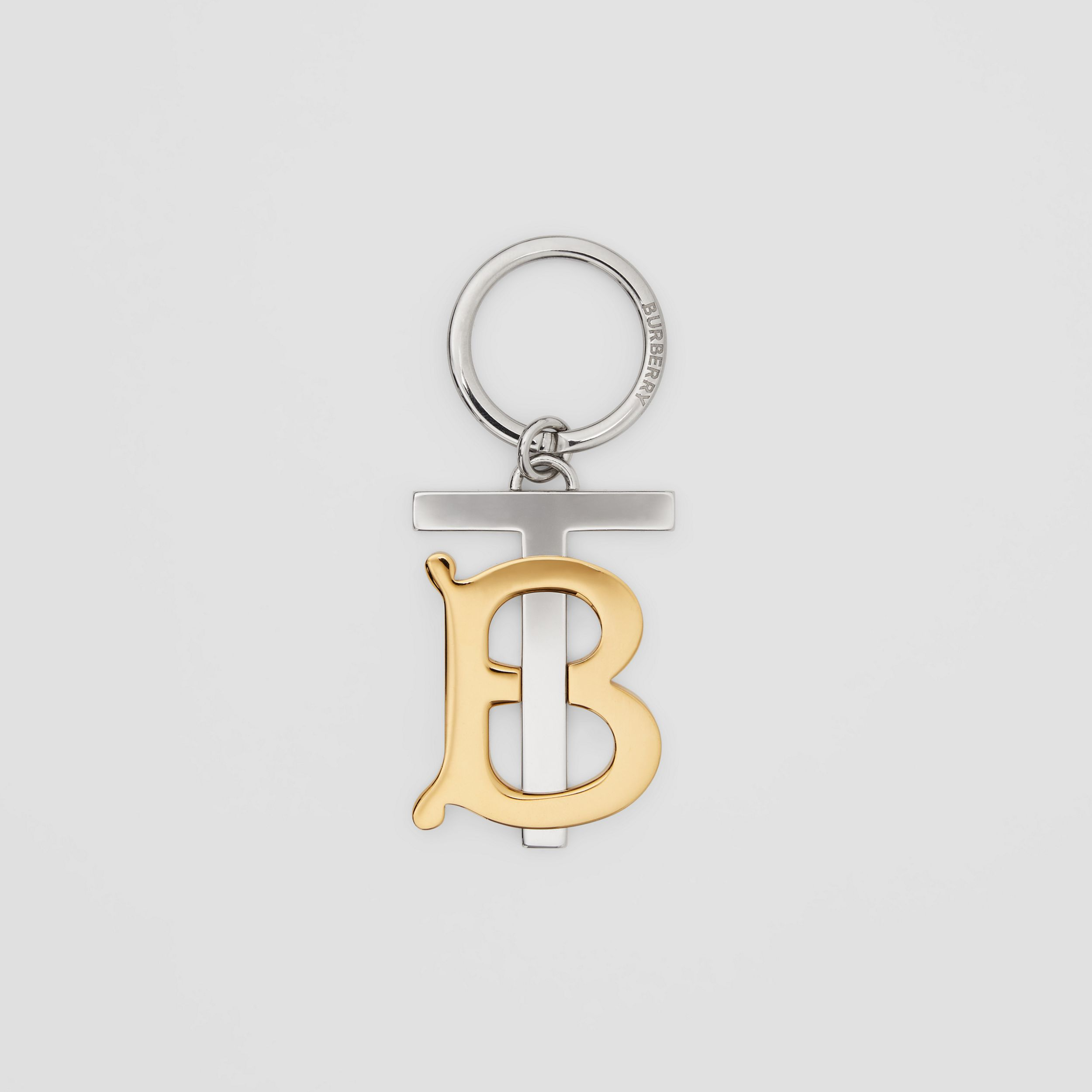 Gold and Palladium-plated Monogram Motif Key Ring in Gold/palladium - Men | Burberry - 1