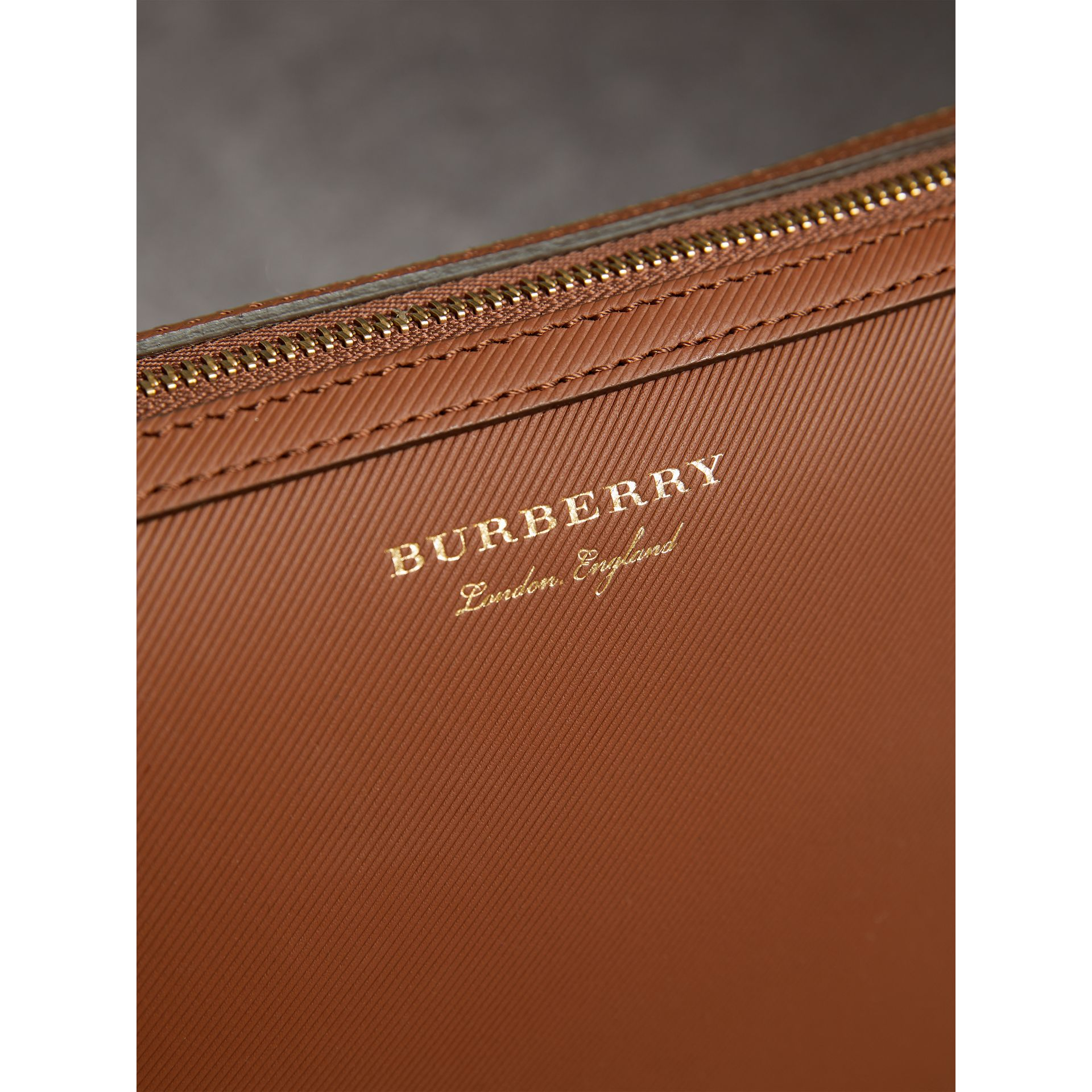 Trench Leather Pouch in Tan - Men | Burberry - gallery image 1