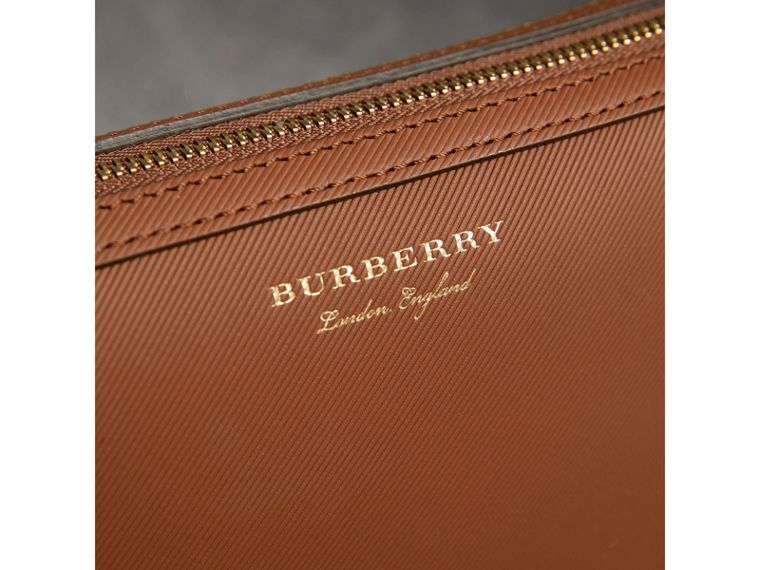 Trench Leather Pouch in Tan | Burberry United Kingdom - cell image 1