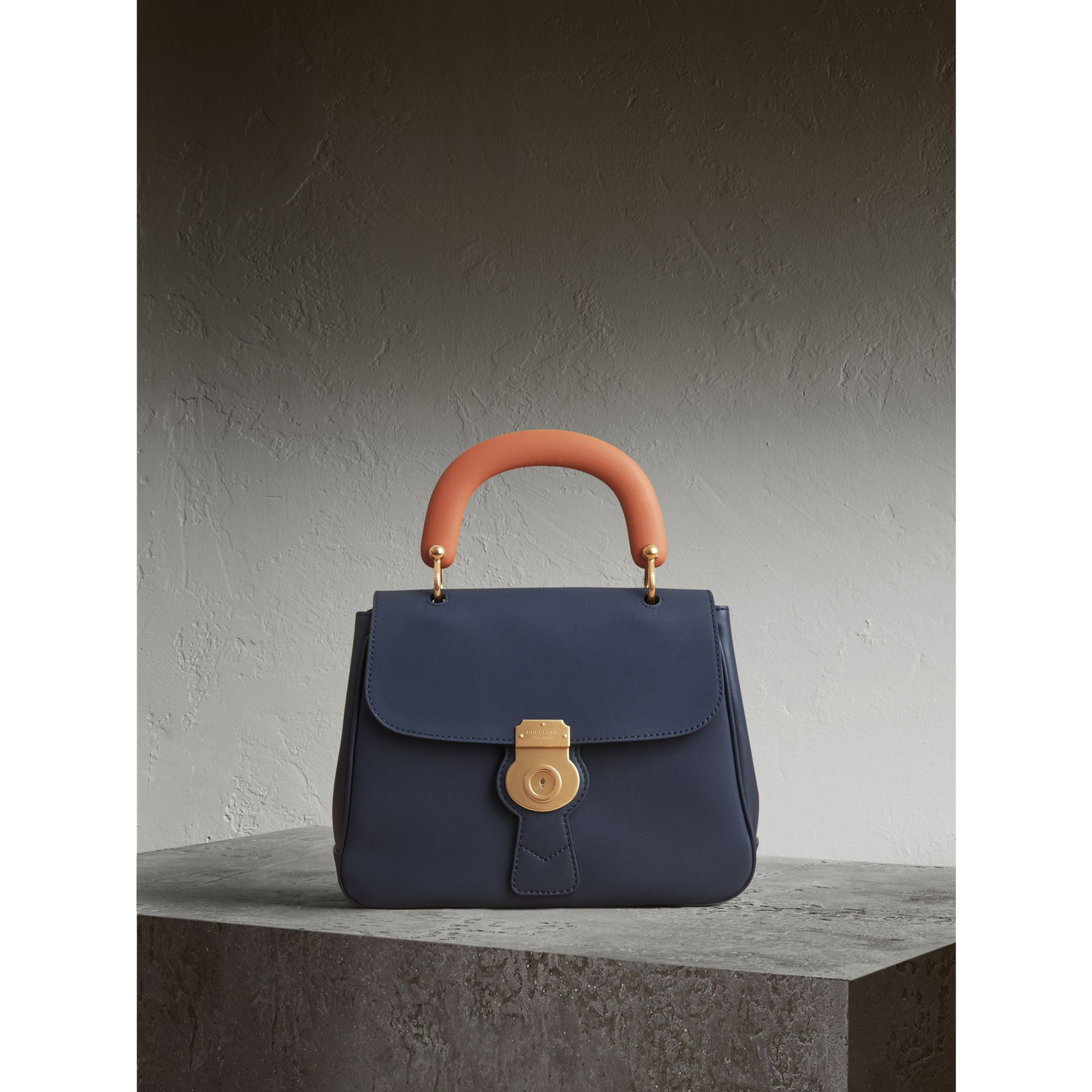 The Medium DK88 Top Handle Bag in Ink Blue - Women | Burberry - gallery image 1