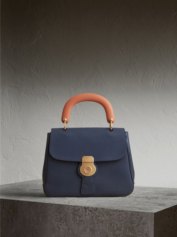 The Medium DK88 Top Handle Bag in Ink Blue - Women | Burberry Australia