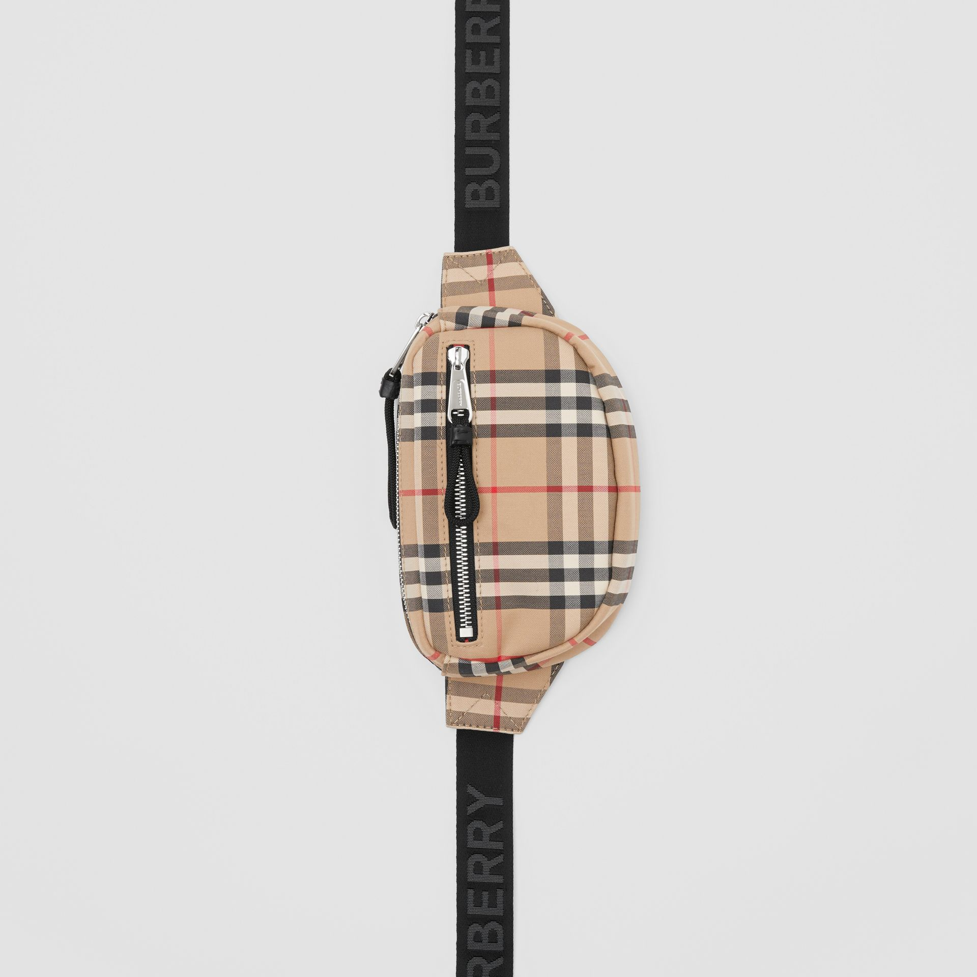 Small Vintage Check Bum Bag in Archive Beige | Burberry - gallery image 3