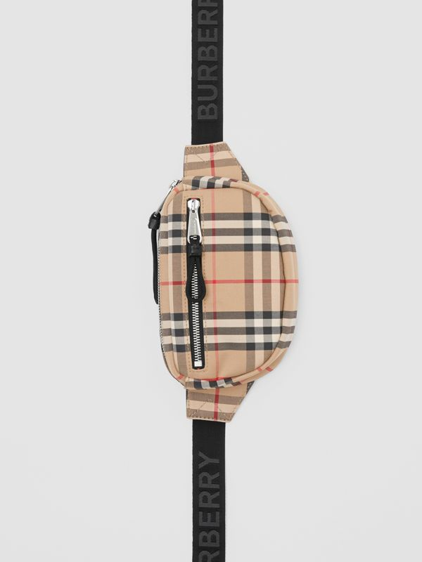 Small Vintage Check Cannon Bum Bag in Archive Beige | Burberry United Kingdom - cell image 3