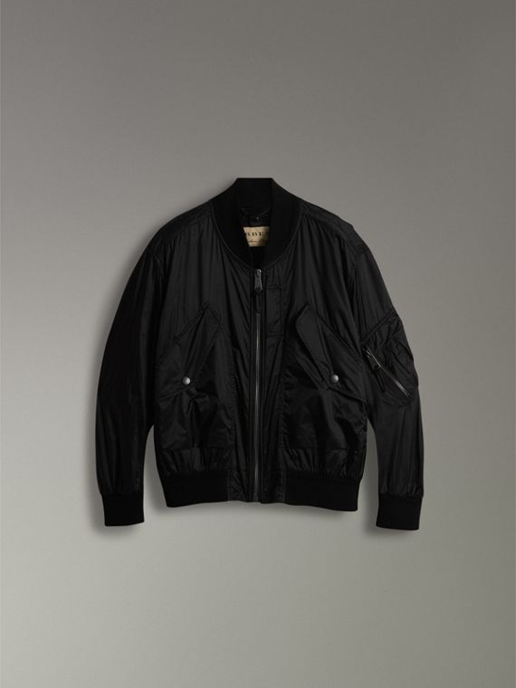 Lightweight Technical Bomber Jacket in Black - Men | Burberry Australia - cell image 3