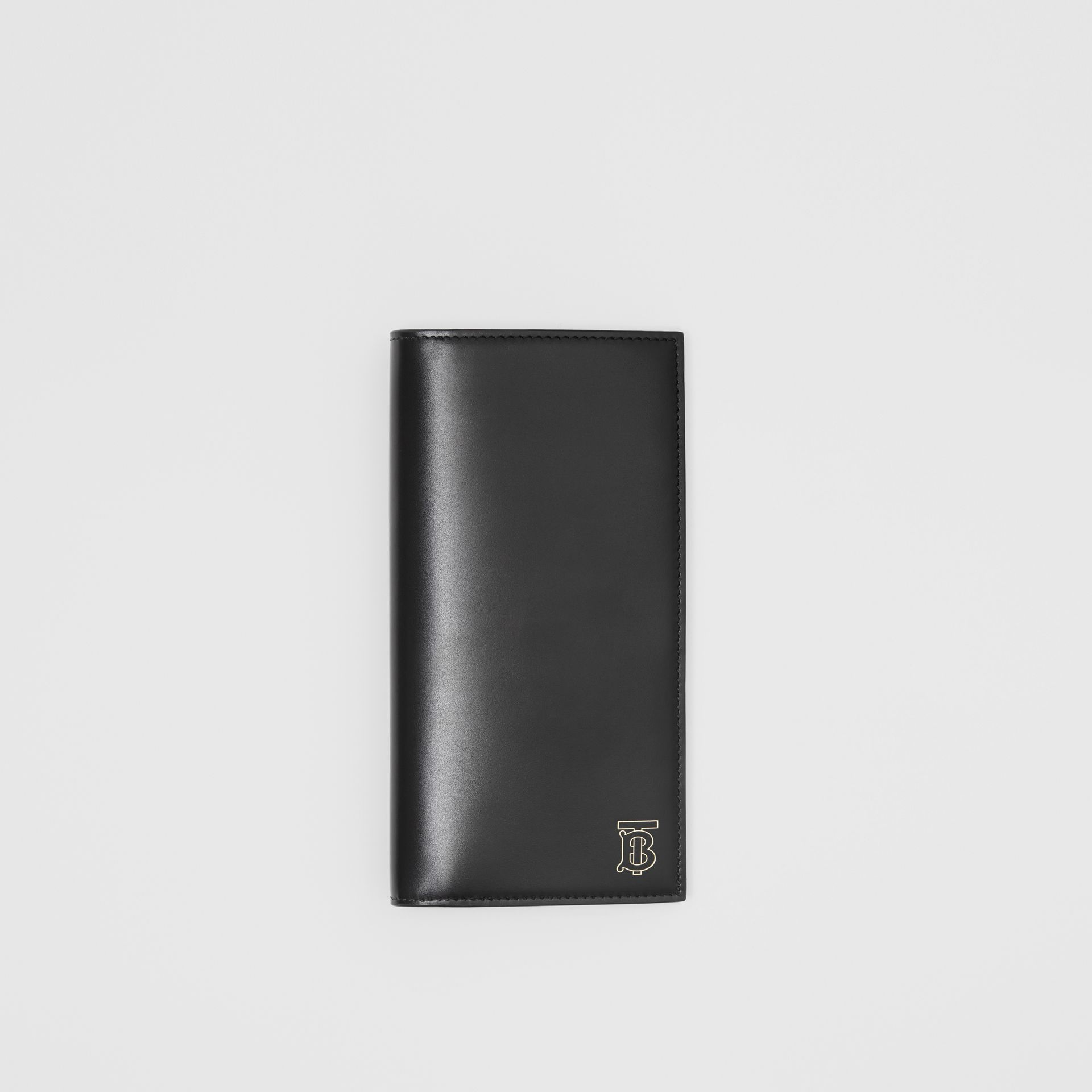 Monogram Motif Leather Continental Wallet in Black - Men | Burberry - gallery image 0