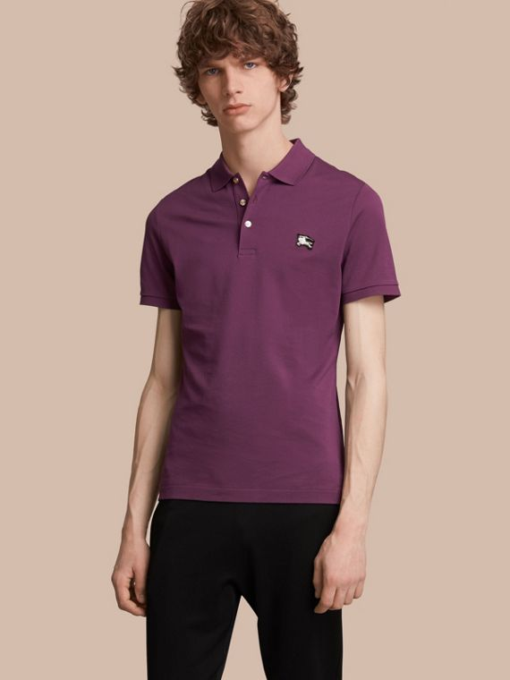Cotton Piqué Polo Shirt in Heather