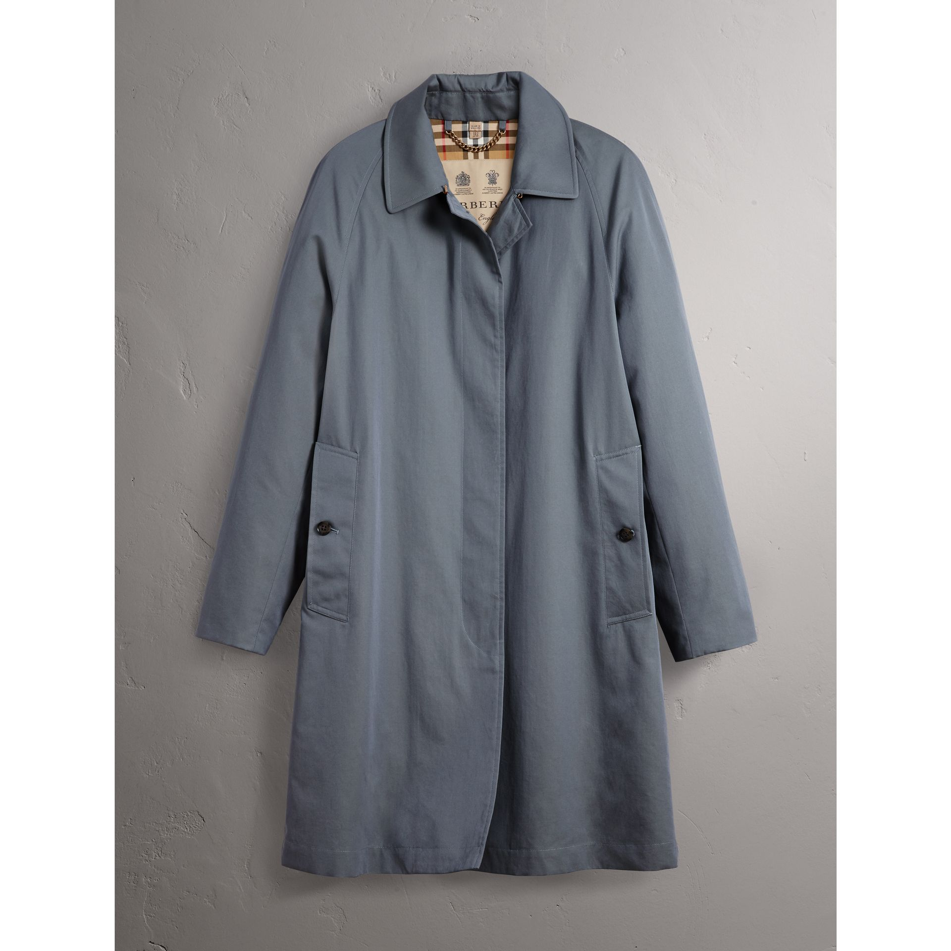 The Camden – Car Coat long (Bleu Cendré) - Femme | Burberry - photo de la galerie 4