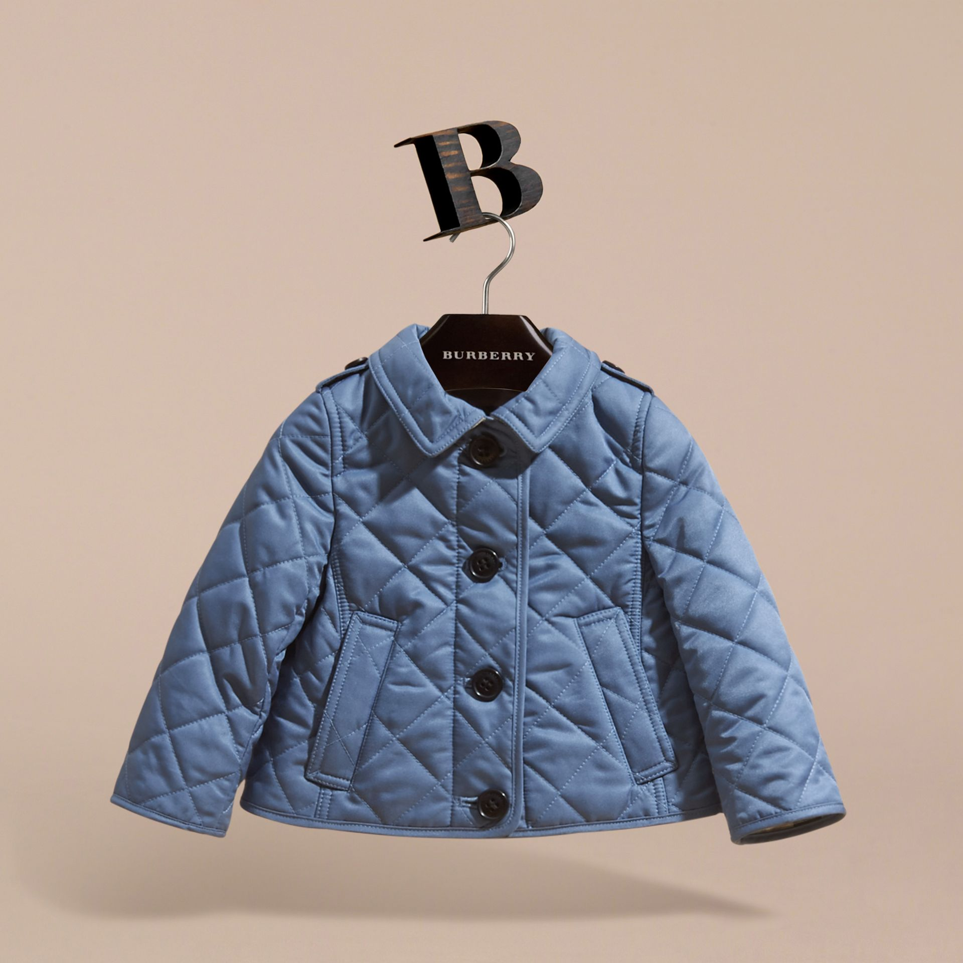 Check Detail Quilted Jacket - gallery image 3