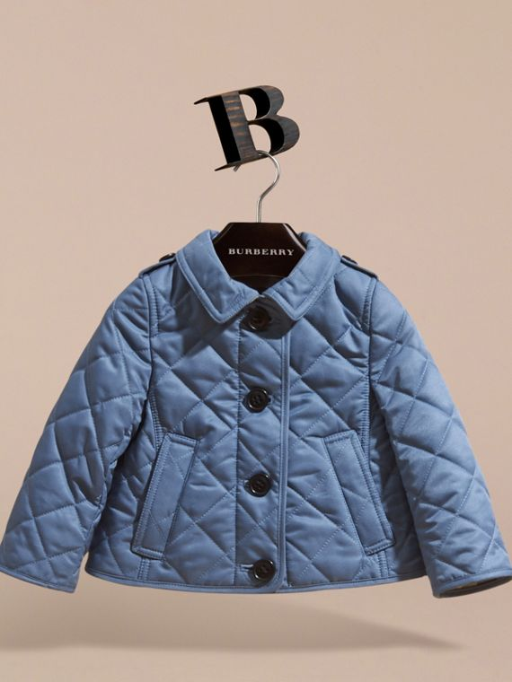 Check Detail Quilted Jacket - cell image 2