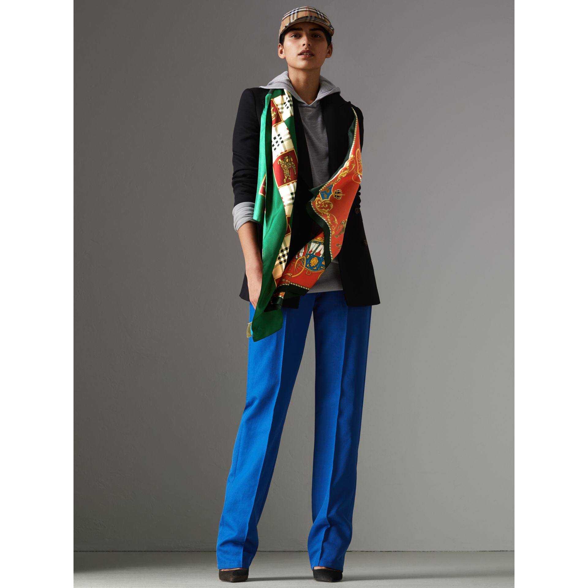 Archive Scarf Print Silk Oversized Scarf in Multicolour - Women | Burberry - gallery image 2