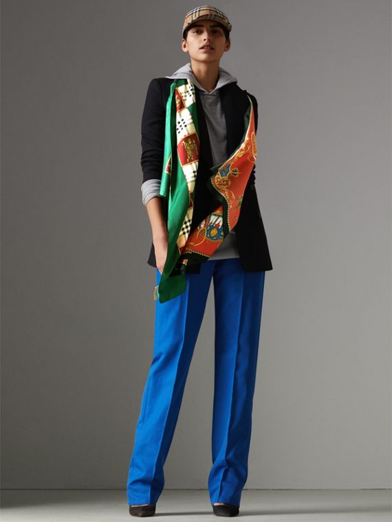 Archive Scarf Print Silk Scarf in Multicolour - Women | Burberry United Kingdom - cell image 2