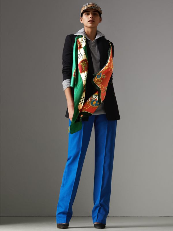 Archive Scarf Print Silk Oversized Scarf in Multicolour - Women | Burberry - cell image 2
