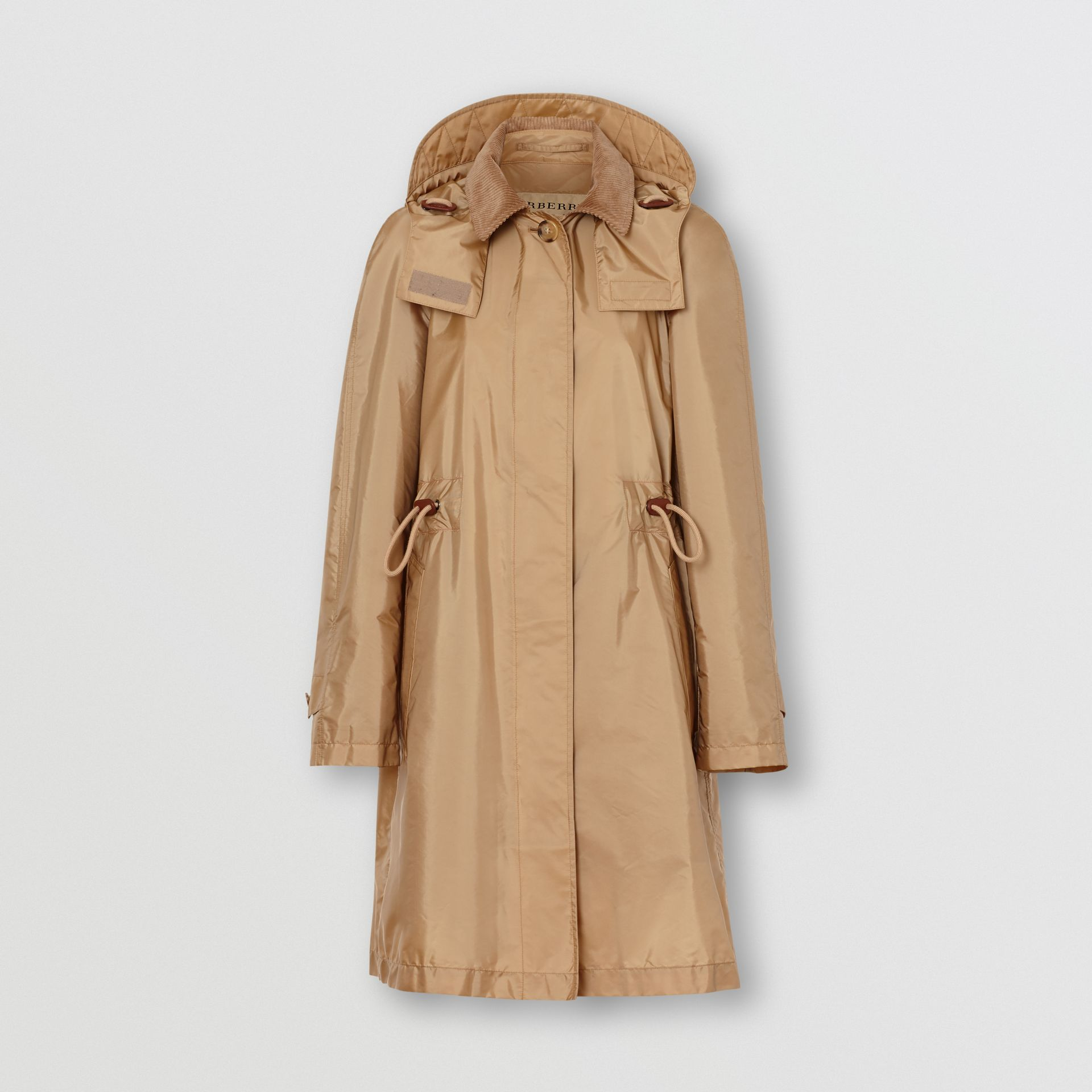 Detachable Hood Taffeta Parka in Honey - Women | Burberry Australia - gallery image 3