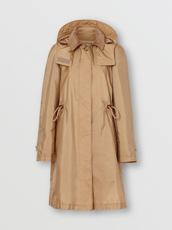 Detachable Hood Taffeta Parka in Honey - Women | Burberry - cell image 3