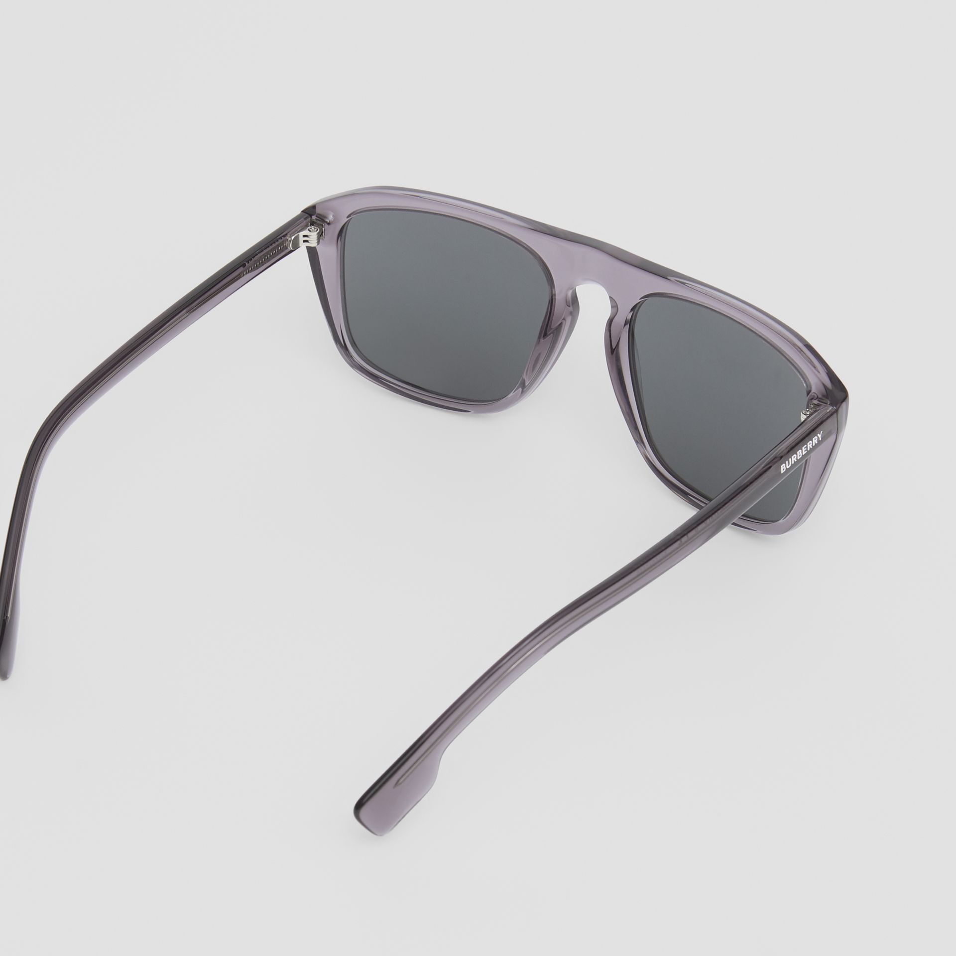Square Frame Sunglasses in Grey - Men | Burberry United Kingdom - gallery image 4