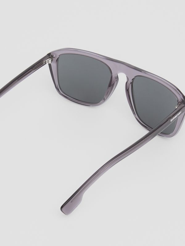 Square Frame Sunglasses in Grey - Men | Burberry - cell image 3